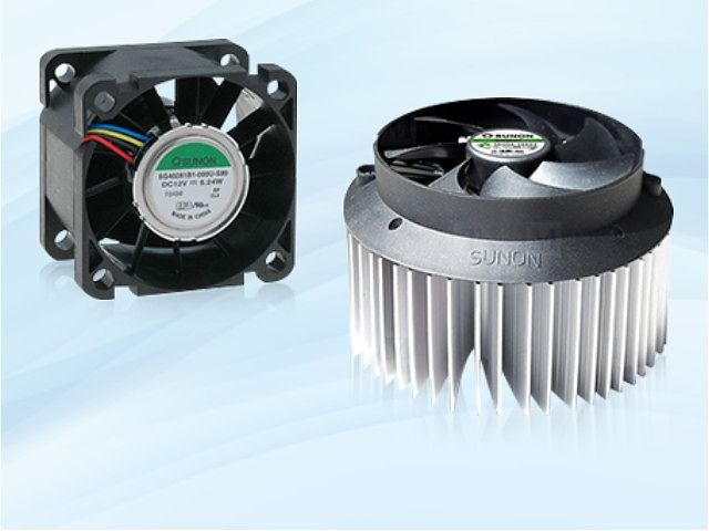 Cooling fans of Sunon company